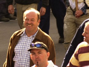 Wally Lewis marching in the VB Regulars advertising campaign