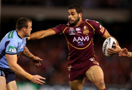 Regardless of his birthplace, Greg Inglis is a Maroons legend and a future immortal Source: www.zimbio.com